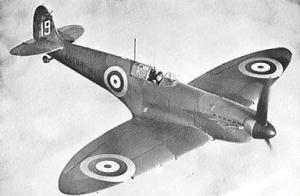 Spitfire IA da Royal Air Force (RAF).